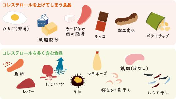 の 高い 食べ物 コレステロール